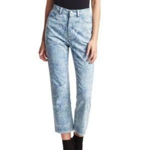Rachel Comey Norm Zebra High-Rise Cropped Jeans 4